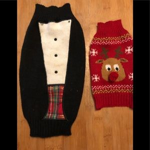 MED and SMALL dog holiday sweater